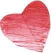 Drawn heart from Coeus