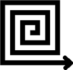 square spiral arrow