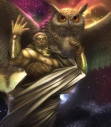 coeus with golden owl