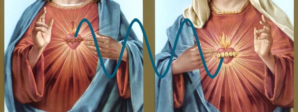 sacred heart sinewaves for divine communication