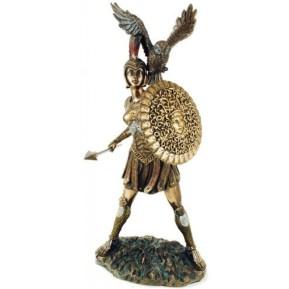 athena and owl 3 sculpture