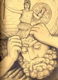 goddess athena birthed through zeus' pure thought