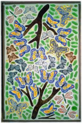 butterfly mosaic ceramic tiles