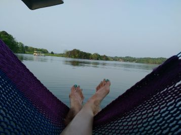 hammock off the back of houseboat