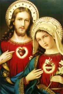 jesus and mother mary sacred hearts