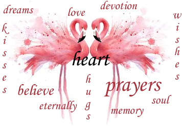 flamingo love faith hope