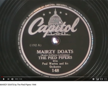 mairsy doats by the pied piper