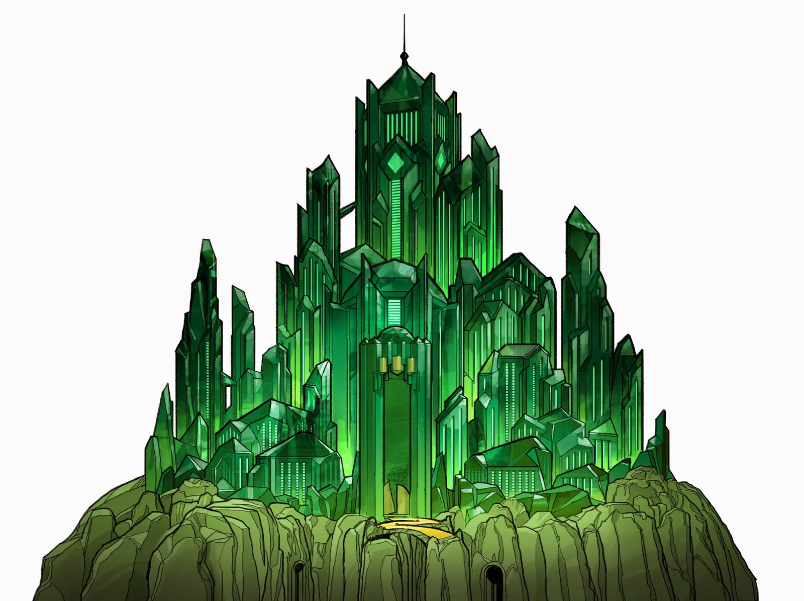 emerald city, the mount, home of the gods and goddesses