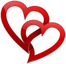 two interlocking hearts