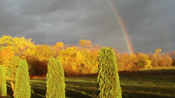 double rainbow over Toms farm