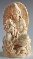 kwan yin halo with baby