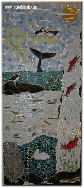 the rime tail tale of the ancient mariner custom handmade mosaic decorative tiles