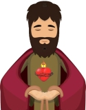 yeshua jesus coeus in prayer through the sacred heart