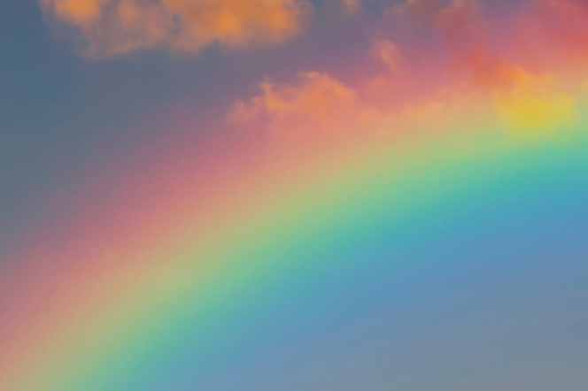 seven rainbow spectrum colors