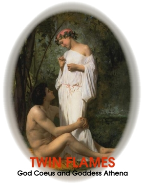 twin flames god coeus and goddess athena not cupid and psyche
