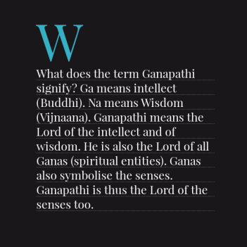 lord of the ganesh coeus god of intellect